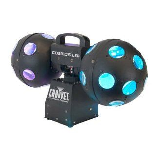 New Chauvet Cosmos LED Easy to use Dual 360 Degree Rotating Ball Effect Light with Tri colored Leds, Adjustable Speed and Continuous Rotation Musical Instruments