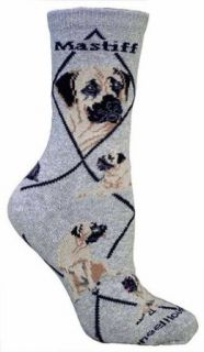 Mastiff Gray Cotton Dog Novelty Socks for Adults 9 11 Clothing