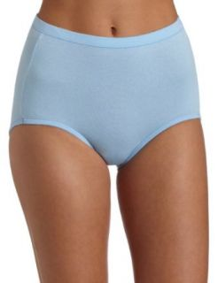 Bali Women's Fit Your Curves Cotton Stretch Brief Panties 3 pack, White/Blue/Blue Stripe, 3XL