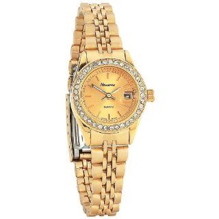 Best Quality Ladies Gld Watch With Date By Navarre&trade Ladies&apos Quartz Watch with Date