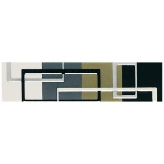 American Olean Urban Canvas Multi Color Ceramic Indoor/Outdoor Rectangle Accent Tile (Common 2 in x 8.5 in; Actual 2 in x 8.5 in)