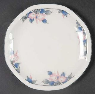 Royal Doulton Bloomsbury Bread & Butter Plate, Fine China Dinnerware   Pink Flow