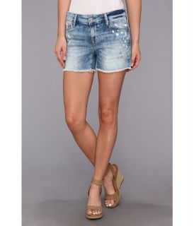 Mavi Jeans Emily Mid Rise Relaxed Short in Painted Artist Vintage Womens Shorts (Blue)