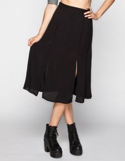 Midi Skirt Black In Sizes Large, Medium, Small, X Small For Women 246