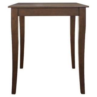 Dining Table Crosley Cabriole Leg Pub Table Set   Mahogany