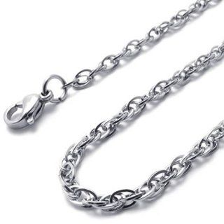 "14"" 3mm KONOV Jewelry Silver Stainless Steel Womens Mens Necklace Chain 14 40"" inches, 3mm, 14 inch KONOV Jewelry Jewelry"
