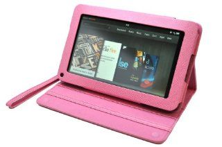CrazyOnDigital Stand Leather Case Cover Fits  Kindle Fire Tablet (Pink)[Doesn't fit Kindle Fire HD] Kindle Store