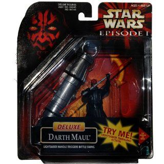 Star Wars Episode 1 Figure Darth Maul Deluxe with Lightsaber Handle