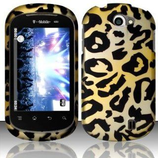 Rubberized cheetah design phone case for the LG Doubleplay