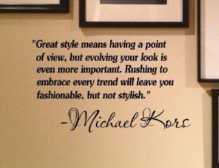 Great style means having a point of view, but evolving your look is even more important. Rushing to embrace every trend will leave you fashionable, but not stylish.  Michael Kors Vinyl Decal Matte Black Decor Decal Skin Sticker Laptop