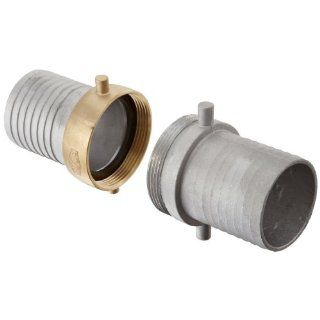 "Dixon CAB300 Aluminum Hose Fitting, Complete King Short Suction Coupling Set with Brass Nut, 3"" NPSM x 3"" Hose ID Barbed"