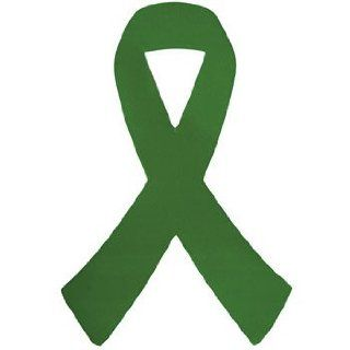 12 Eight Inch Green Awareness Ribbon Car Magnets Health & Personal Care
