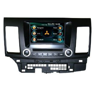 OEM REPLACEMENT IN DASH RADIO DVD GPS NAVIGATION HEADUNIT FOR MITSUBISHI LANCER EX WITH REAR VIEW CAMERA  In Dash Vehicle Gps Units  GPS & Navigation