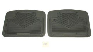 1998 2004 Nissan Frontier Gray 2 PC Rear All Weather Floor Mats Floor Mats All Weather Sports & Outdoors