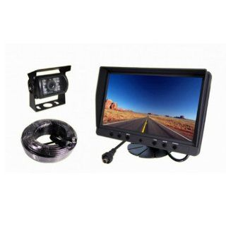9 Inch Digital LCD Monitor Mirror Night Vision Backup Camera Car Rear View System for RV, Truck, Trailer, Bus, Fifth Wheel  Vehicle Backup Cameras
