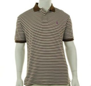 Polo Ralph Lauren Mens Classic fit Even Stripe Polo Shirt, Brown/white (Medium) at  Men�s Clothing store