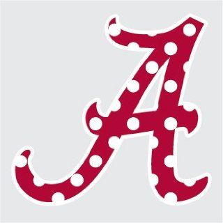 "Alabama Crimson Tide POLKA DOT SCRIPT A 3"" Vinyl Decal Car Truck Sticker UA"