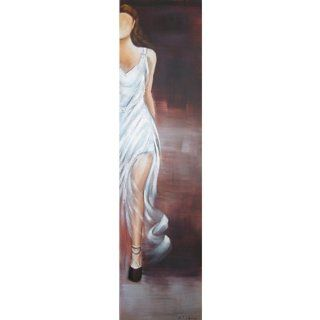 Yosemite Home Decor FCB048 2YNW1 Diva White V Hand Painted Contemporary Artwork, Costume and Fashion Figurative   Acrylic Paintings