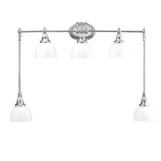 Kichler Lighting 5371CH Pocelona 5 Light Wall Mount Bath Swag, Chrome with White Porcelain Details and Cased Opal Glass   Vanity Lighting Fixtures