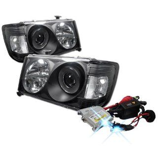High Performance Xenon HID Mercedes Benz W124 E Class 1PC Halo Projector Headlights with Premium Ballast   Black with 10000K Deep Blue HID Automotive