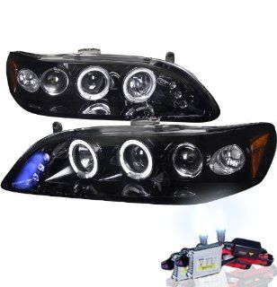 High Performance Xenon HID Honda Accord Projector Headlights with Premium Ballast (Glossy Black Housing w/ Smoke Lens & 6000K HID Lighting Output) Automotive