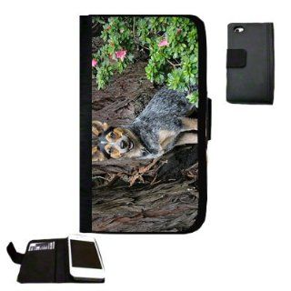 blue healer dog Fabric iPhone 4 Wallet Case Great Gift Idea Cell Phones & Accessories