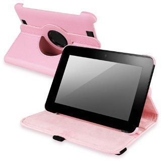 eForCity 360 degree Swivel Multi Angles Leather Case Compatible with  Kindle Fire HD 7 inch, Pink Computers & Accessories