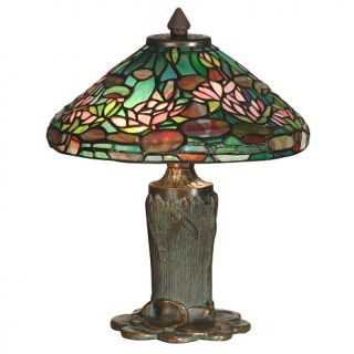 Dale Tiffany Floral Leaf Desk and Table Lamp