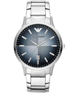 Emporio Armani Unisex Renato Stainless Steel Bracelet Watch 43mm AR2472   Watches   Jewelry & Watches