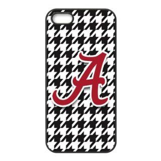 iPhone 5 & 5s Case   Popular Houndstooth Background NCAA Alabama Crimson Tide Apple iPhone 5 & 5s Waterproof Rubber (TPU) Back Cases Covers Cell Phones & Accessories