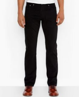 Levis 505 Regular Fit Black Out Jeans   Jeans   Men