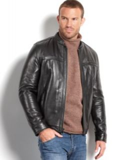 Marc New York Jacket, Ryder Distressed Calf Leather Moto Jacket   Coats & Jackets   Men