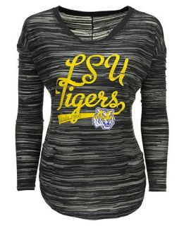 Blue 84 Womens Long Sleeve LSU Tigers Trouble Burnout Striped Top   Sports Fan Shop By Lids   Men