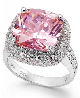 B. Brilliant Pink and Clear Cubic Zirconia Ring in Sterling Silver (9 9/10 ct. t.w.)   Rings   Jewelry & Watches