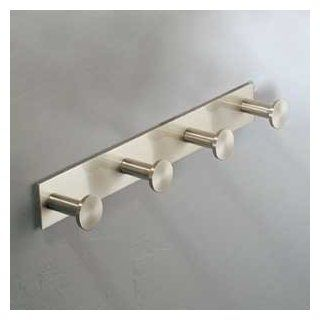 Ginger 2810Q/PC Surface Four Hook Robe Hook, Polished Chrome
