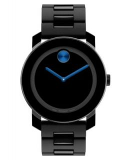 Movado Swiss Bold Large Black Polymer Bracelet Watch 42mm 3600047   Watches   Jewelry & Watches