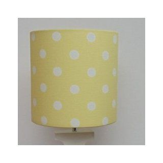 "Handmade Lamp Shade   Color Yellow Polka Dots   Size 7""x 7""   Lampshades"