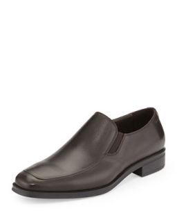 Pitto Leather Loafer, Dark Brown