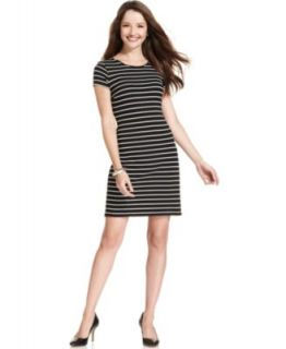 Karen Kane Long Sleeve Striped T Shirt Dress   Dresses   Women