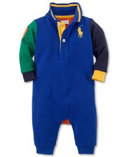 Ralph Lauren Baby Coverall, Baby Boys Colorblocked Coverall   Kids