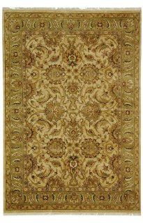 Safavieh DY207B Dynasty Collection Handmade Wool Round Area Rug, 6 Feet, Beige/Green