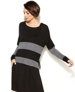 Eileen Fisher Long Sleeve Striped Linen Sweater   Sweaters   Women