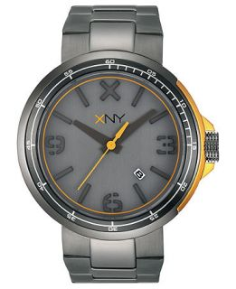 XNY Watch, Mens Urban Expedition Gray Ion Plated Stainless Steel Bracelet 44mm BV8042X1   Watches   Jewelry & Watches