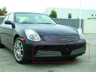 T Rex Grilles 2005   2006  Infiniti G35 4 Door Sedan  Bumper Billet Grille Insert   2 Piece   (9 Bars Each) Automotive