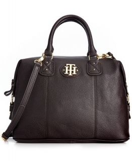 Tommy Hilfiger Handbag, Keepsake Leather Bowler Bag   Handbags & Accessories