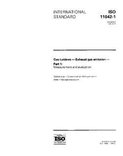 ISO 11042 11996, Gas turbines   Exhaust gas emission   Part 1 Measurement and evaluation ISO TC 192 Books