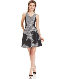 Vince Camuto Sleeveless Graphic Floral Dress   Dresses   Women