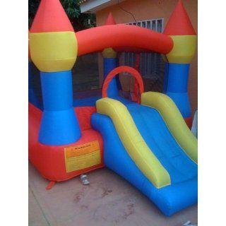 Castle Inflatable Bounce House w/ Slide (12' x 9') Toys & Games
