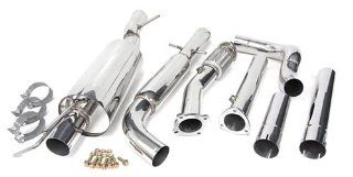 99 05 Volkswagen Golf GTI Catback Muffler Exhaust System + Downpipe 99 00 01 02 03 04 05 Automotive
