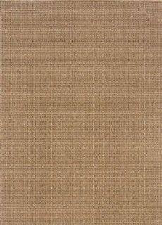 "Sphinx Karavia Indoor/Outdoor Area Rug 2067X Sand Solid Woven 6' 7"" x 9' 6"" Rectangle"